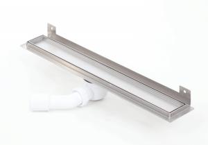 Odpływ prysznicowy liniowy do zabudowy płytką plastikowy syfon z wygiętą flanszą